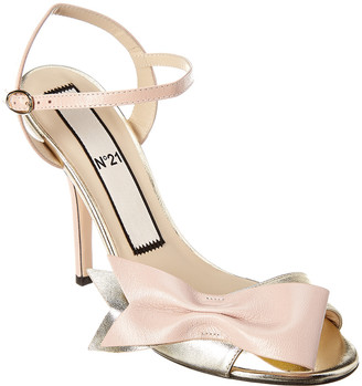 N°21 N 21 N21 Bow Metallic Leather Sandal