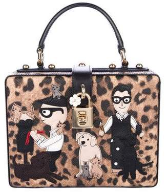 Dolce & Gabbana Stefano Domenico Leopard Print Box Bag