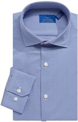 Perry Ellis Slim-Fit Dobby Performance Tech Dress Shirt