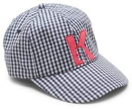 Karl Lagerfeld Terry Gingham Baseball Cap