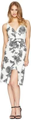 Bebe Tie Strap Over Wrap Skirt Dress Women's Dress