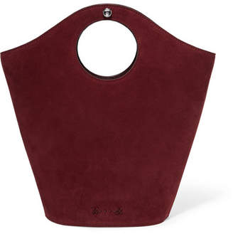 Elizabeth and James Market Small Leather And Suede Tote - Burgundy