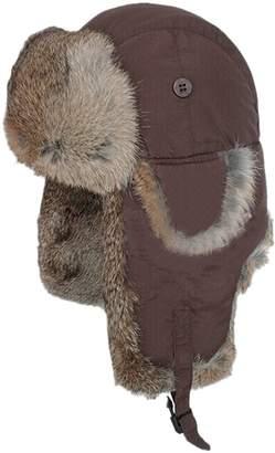 fd9cf82e166 Easting Co Easting Real Rabbit Fur Ushanka Trapper Hunting Hat Bomber Aviator  Winter Cap