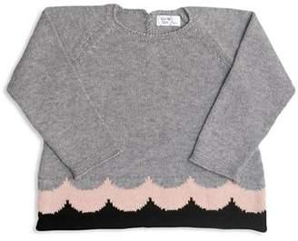 Tun Tun Girls' Antonia Knit Wave-Print Sweater - Baby