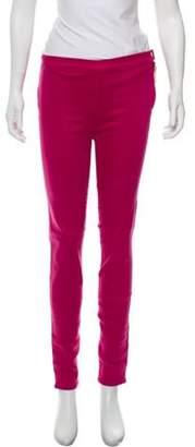 Giambattista Valli Mid-Rise Skinny Jeans Magenta Mid-Rise Skinny Jeans