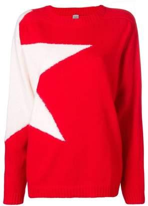 Eleventy star intarsia jumper