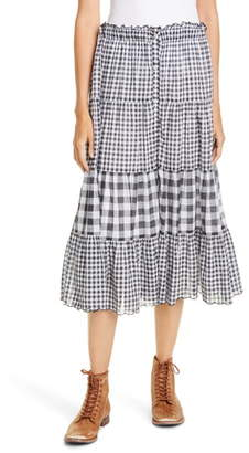 The Great The Button-Up Tiered Skirt