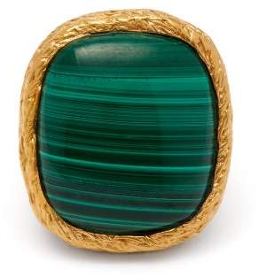 Aurelie Bidermann Miki 18kt Gold Plated Ring - Womens - Green