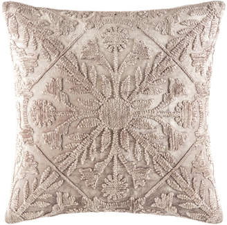 Kas Mink Tile Pattern Margo Velvet Cushion