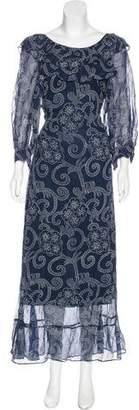 Banjanan Ruffle Maxi Dress w/ Tags