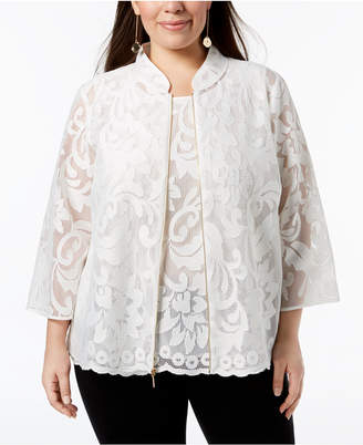 Kasper Plus Size Lace Jacket