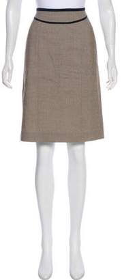 Narciso Rodriguez Woven Knee-Length Skirt