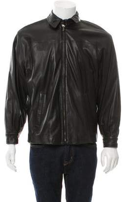 Bergdorf Goodman Wool-Lined Leather Jacket w/ Tags
