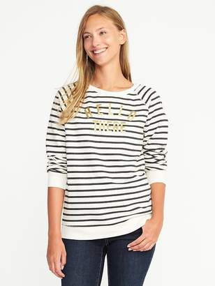 Relaxed Graphic Crew-Neck Sweatshirt for Women $29.99 thestylecure.com