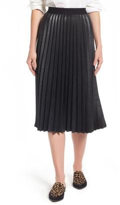 Women's Halogen Pleat Faux Leather Skirt $119 thestylecure.com