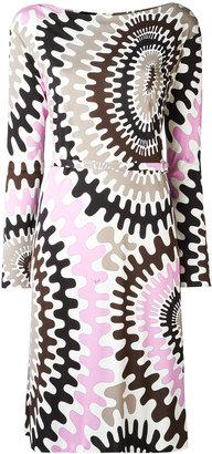 Emilio Pucci Bersaglio print long sleeve dress $1,072 thestylecure.com