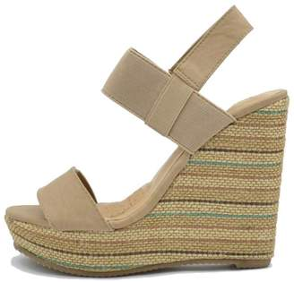 De Blossom Collection Stripped Burlap Wedge