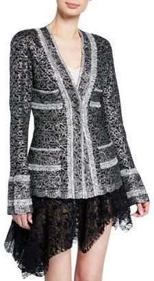 ANAÏS JOURDEN Metallic-Coated Lace Blazer