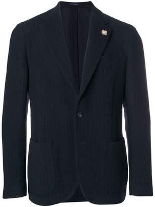 Lardini textured blazer jacket