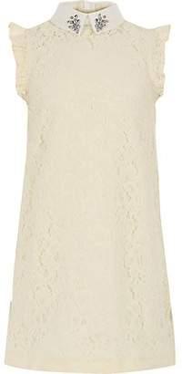 River Island Girls cream lace shift dress