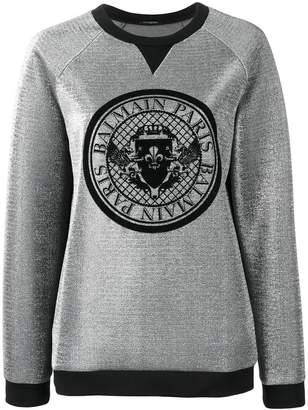 Balmain logo medallion sweatshirt
