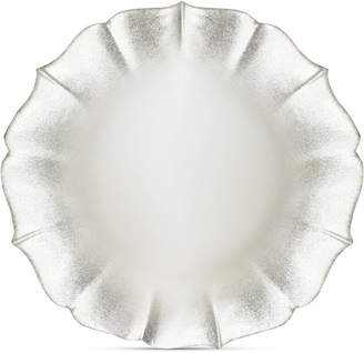 American Atelier Jay Imports Contessa Silver/Pearl-Tone Charger Plate