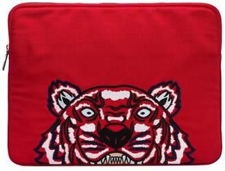Kenzo tiger embroidered laptop bag