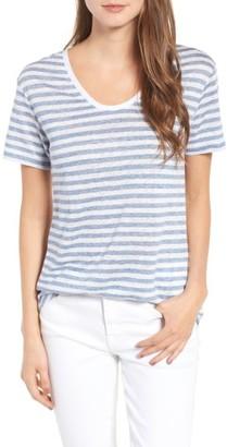 Women's Vineyarn Vines Stripe Linen Jersey Tee $72 thestylecure.com