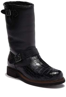 Australia Luxe Collective Tank Crocodile Embossed Genuine Shearling Lined Boot