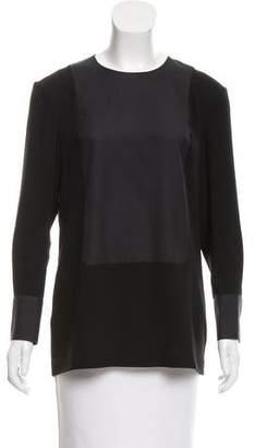 Calvin Klein Collection Contrasted Long Sleeve Top