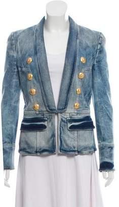 Balmain Acid Wash Denim Jacket