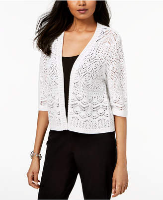 JM Collection Cropped Open-Front Cardigan, Created for Macy's