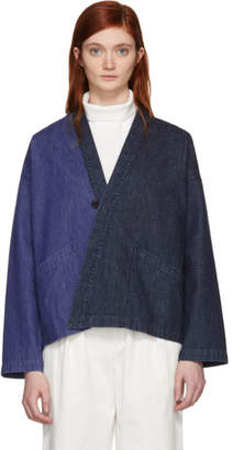 Blue Blue Japan Indigo Denim Haori Cardigan