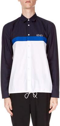 Kenzo Men's Drawstring Casual Fit Sport Shirt