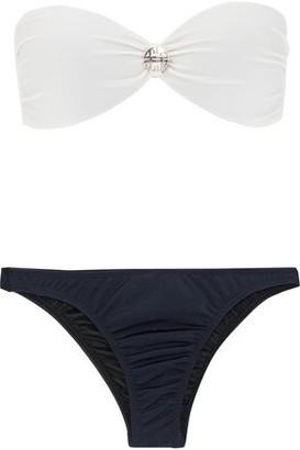 355597e495f Adriana Degreas Knotted Two-tone Bandeau Bikini