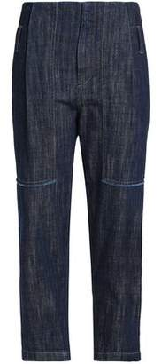 Brunello Cucinelli Cropped Faded High-Rise Tapered Jeans