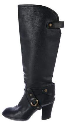 Hogan Leather Knee-High Boots