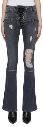 Taverniti So Ben Unravel Project Lace-up ripped flared jeans