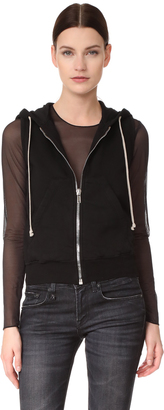 Rick Owens DRKSHDW Sleeveless Regular Hoodie $595 thestylecure.com