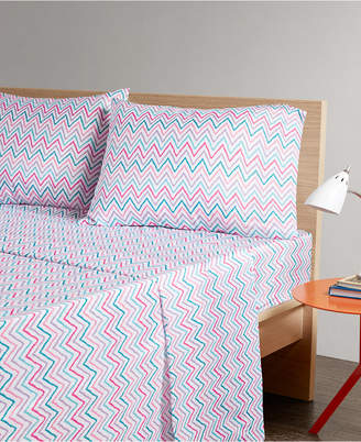Jla Home Intelligent Design Multicolor Chevron 3-pc Twin Microfiber Printed Sheet Bedding