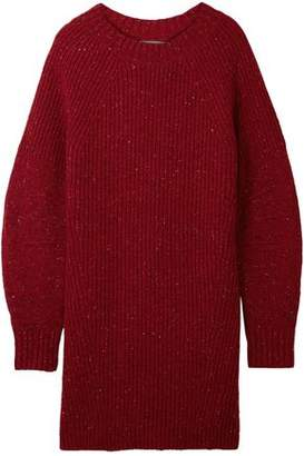 Burberry Oversized Ribbed Wool Cashmere And Mohair-Blend Sweater