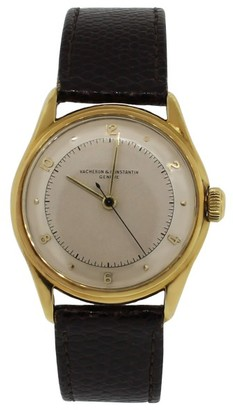 Vacheron Constantin Geneve 18K Yellow Gold Leather Unisex Watch $5,595 thestylecure.com