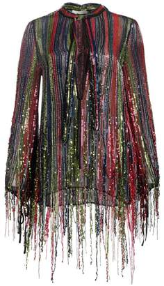 Amen Sequin Fringe Blouse
