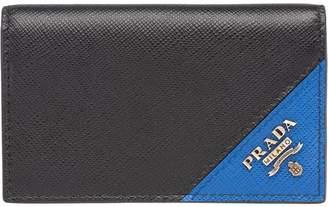 Prada colour-block cardholder wallet
