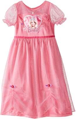 Barbie Little Girls' Short Sleeve Dressy Gown