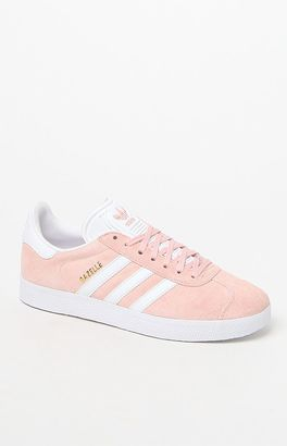 adidas Women's Pink Gazelle Sneakers $80 thestylecure.com