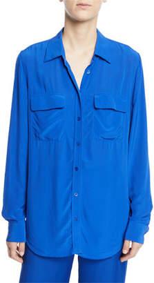 Equipment Signature Rayon/Viscose Flap-Pocket Shirt