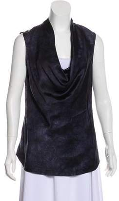Theory Sleeveless Cowl Neck Top
