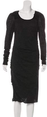 Dolce & Gabbana Wool Long Sleeve Dress
