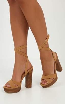 Showpo Billini - Elia heels in tan nubuck